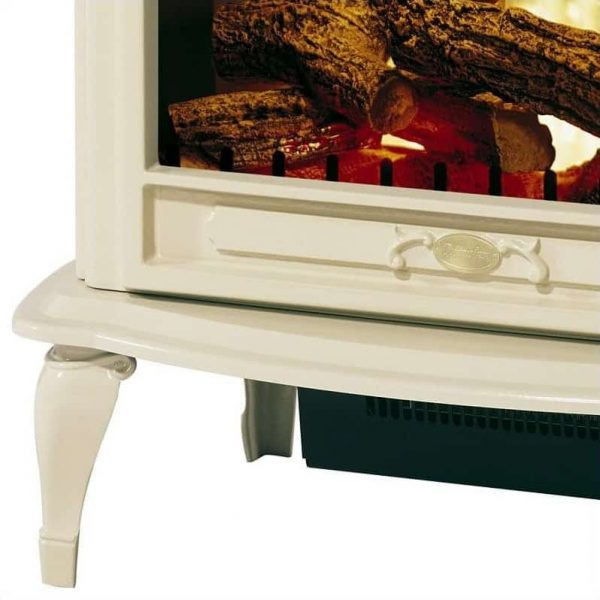 Bowery Hill Stoves Celeste Electric Fireplace Stove Heater in Cream 2