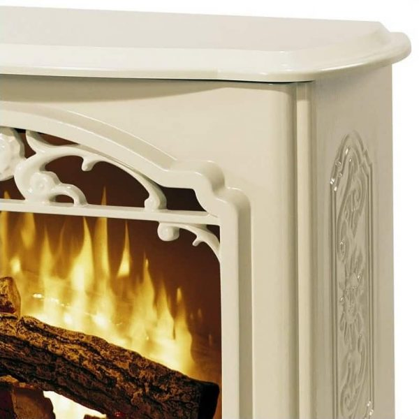 Bowery Hill Stoves Celeste Electric Fireplace Stove Heater in Cream 3