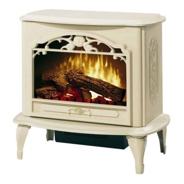 Bowery Hill Stoves Celeste Electric Fireplace Stove Heater in Cream