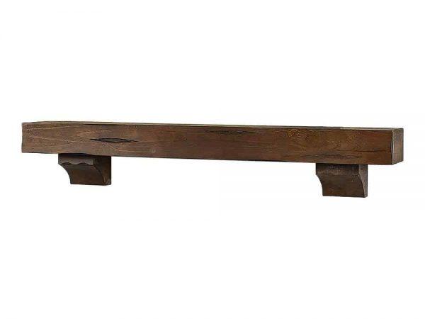 Breckenridge 48 inch Wood Fireplace Mantel Shelf