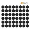 Brio Dew Cap Crown Top Replacement Cap - 48 Pack - 55mm Snap On Cap for Crown top lids for 3 & 5 Gallon Water Bottles (Black)
