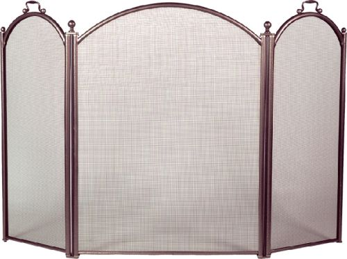 Bronze 3 Fold Arched Panel Screen - 34 inch