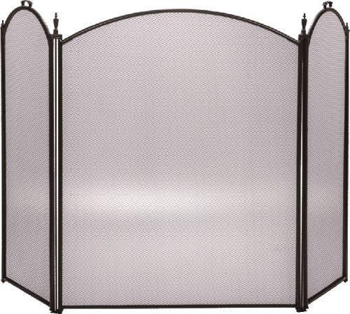 Bronze 3 Fold Arched Screen - 32 inch