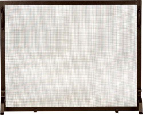 Bronze Wrought Iron Panel Screen - 34 inch