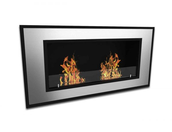 Brooks 47 Inch Ventless Built In Recessed Bio Ethanol Wall Mounted Fireplace 1