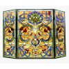"CHLOE Lighting BARDOT Tiffany-glass Victorian 3pcs Folding Fireplace Screen 40"" Wide"