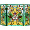 CHLOE Lighting MYRTLE Tiffany-style 3pcs Folding Victorian Fireplace Screen 44x28