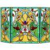 CHLOE Lighting MYRTLE Tiffany-style 3pcs Folding Victorian Fireplace Screen 44x28