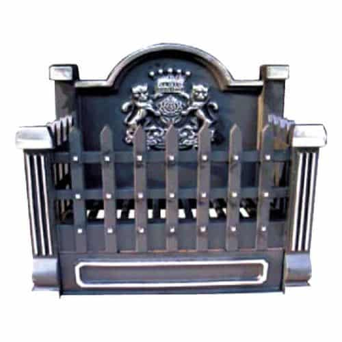 CI920 Black Cast Iron Basket Grate with Fireback - 18 inch