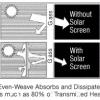 """CRL SSW48BL Black 48"""" Even-Weave Solar Screen Mesh 4"""
