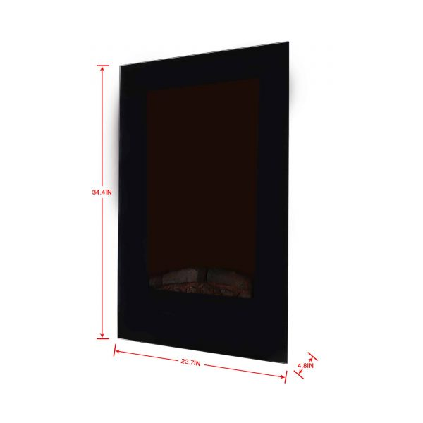 Caesar Fireplace EF490L LED Electric Wall Fireplace 10