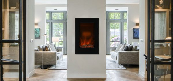Caesar Fireplace EF490L LED Electric Wall Fireplace