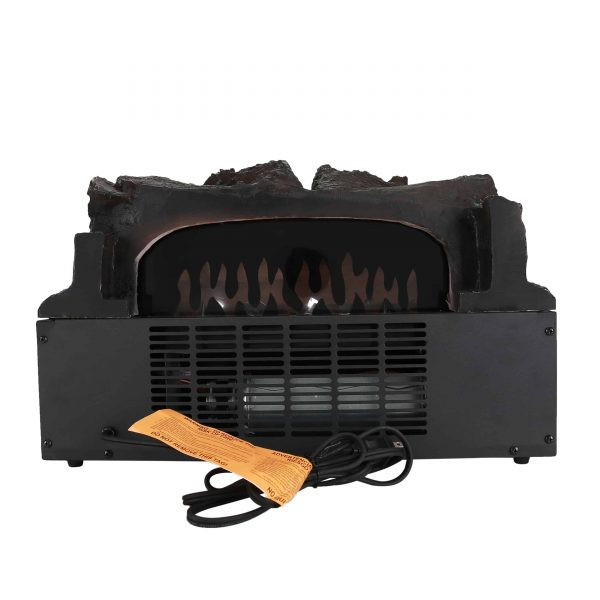 Caesar Fireplace FP201R Stove Adjustable Electric Log Set Heater with Realistic Ember Bed 1500W 1