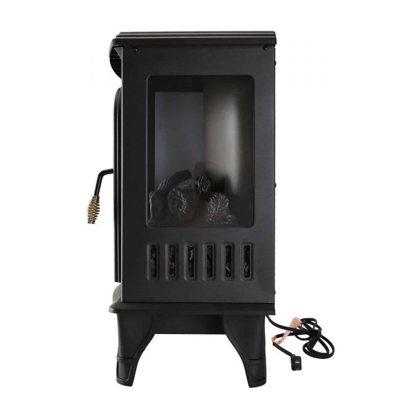 Caesar Fireplace FP203-T3 Portable Indoor Home Compact Electric Wood Stove Fireplace Heater with Thermostat for Office and Home 1500W 1
