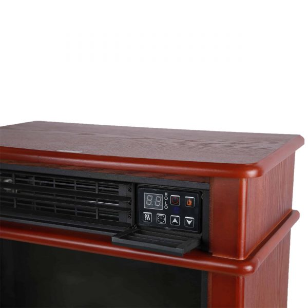 Caesar Fireplace FP404R-QC Infrared Quartz Electric Freestanding Insert Heater Stove Rolling Mantel 1000W-1500W Overheat Safety Feature with wheels 8