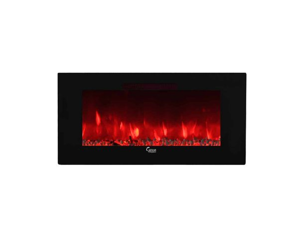 Caesar Luxury CHFP-40B Linear Wall Mount Recess Freestanding Multicolor Flame Electric Fireplace with Backlight, 40-Inch 11