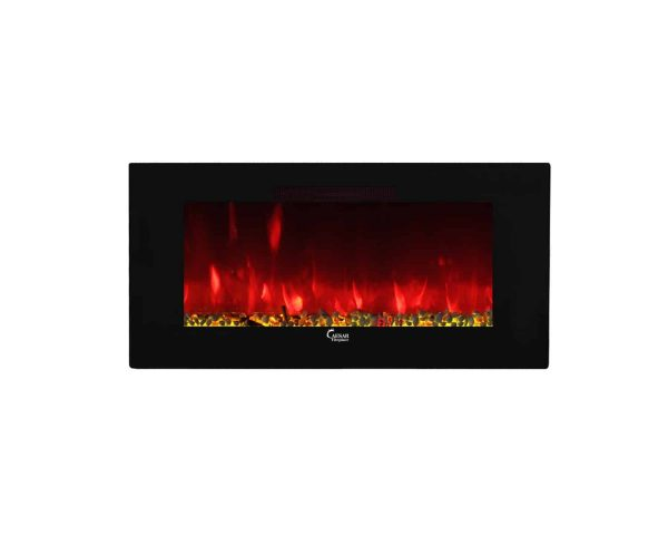 Caesar Luxury CHFP-40B Linear Wall Mount Recess Freestanding Multicolor Flame Electric Fireplace with Backlight, 40-Inch 2