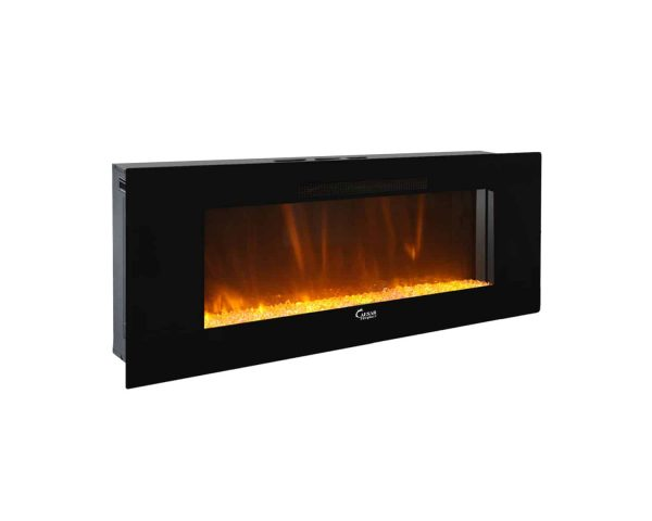 Caesar Luxury CHFP-40B Linear Wall Mount Recess Freestanding Multicolor Flame Electric Fireplace with Backlight, 40-Inch 5