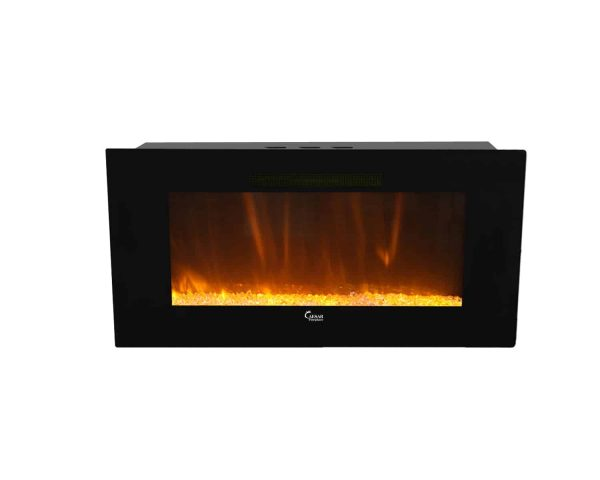 Caesar Luxury CHFP-40B Linear Wall Mount Recess Freestanding Multicolor Flame Electric Fireplace with Backlight, 40-Inch 6