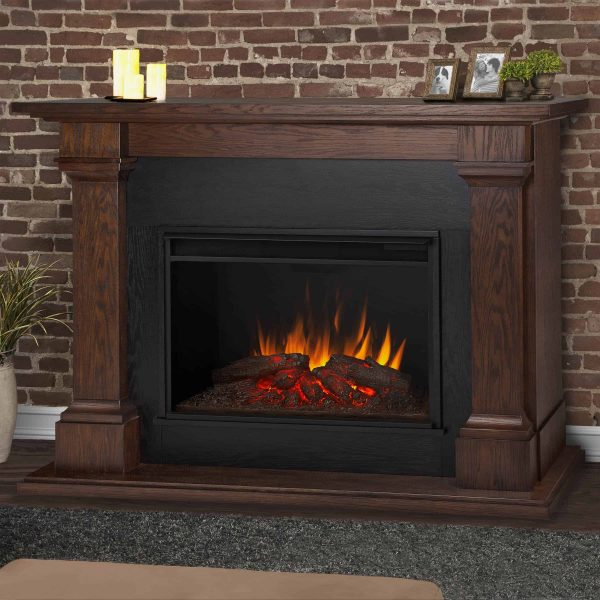 Callaway Grand Electric Fireplace in Chestnut Oak by Real Flame 1