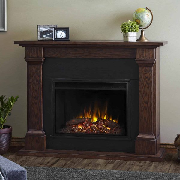 Callaway Grand Electric Fireplace in Chestnut Oak by Real Flame 2