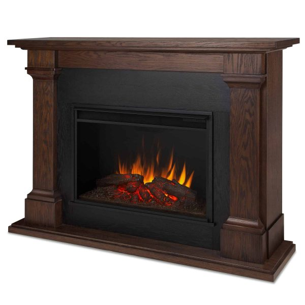 Callaway Grand Electric Fireplace in Chestnut Oak by Real Flame 3