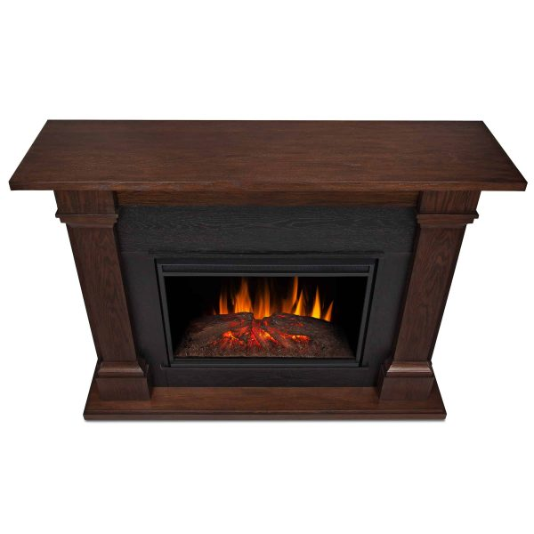 Callaway Grand Electric Fireplace in Chestnut Oak by Real Flame 5