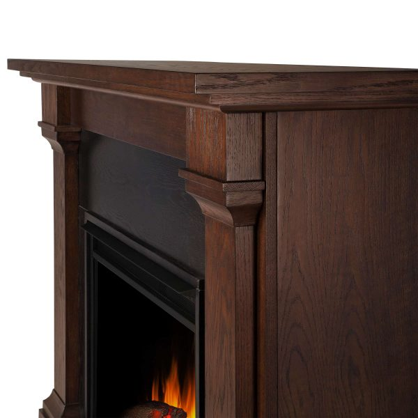 Callaway Grand Electric Fireplace in Chestnut Oak by Real Flame 6