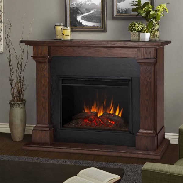 Callaway Grand Electric Fireplace in Chestnut Oak by Real Flame