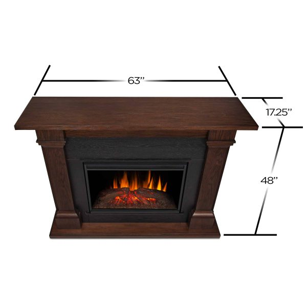 Callaway Grand Electric Fireplace in Chestnut Oak by Real Flame 7
