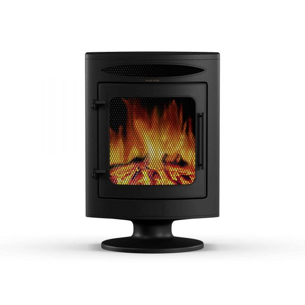 Cambridge 1500W Freestanding Electric Fireplace Heater in Black with Log Display 10