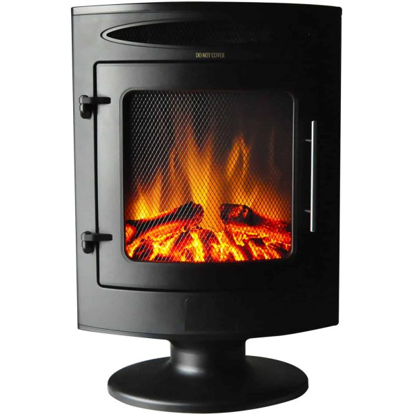 Cambridge 1500W Freestanding Electric Fireplace Heater in Black with Log Display 5