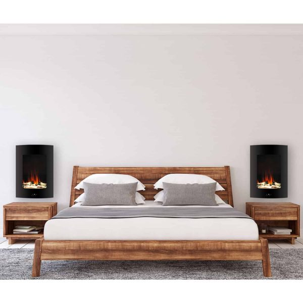 "Cambridge 19.5"" Vertical Electric Fireplace Heater with Multi-Color LED Flames and Driftwood Log Display 7"
