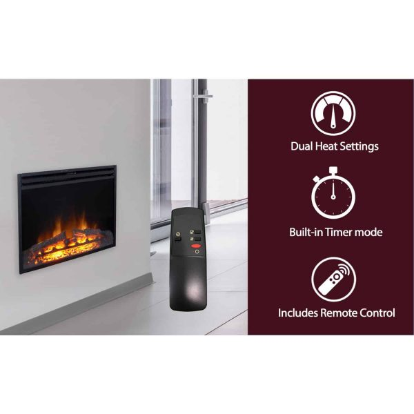 Cambridge 23-In. Freestanding 5116 BTU Electric Fireplace Insert with Remote Control 2