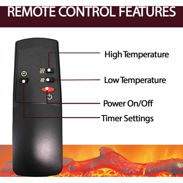 Cambridge 23-In. Freestanding 5116 BTU Electric Fireplace Insert with Remote Control 3