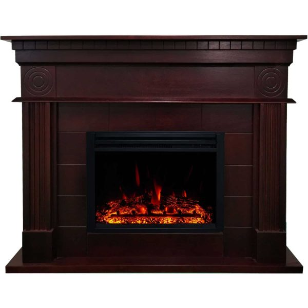 Cambridge 47.8-in. Shelby Electric Fireplace Mantel with Deep Log Insert