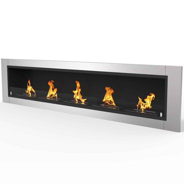 "Cambridge 71"" Ventless Built In Wall Recessed Bio Ethanol Wall Mounted Fireplace Similar Electric Fireplaces 1"