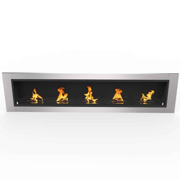 """Cambridge 71"""" Ventless Built In Wall Recessed Bio Ethanol Wall Mounted Fireplace Similar Electric Fireplaces 2"""