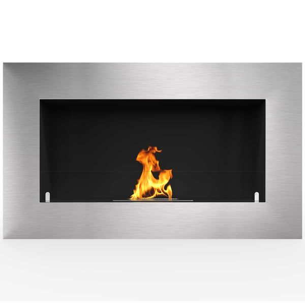 "Cambridge 71"" Ventless Built In Wall Recessed Bio Ethanol Wall Mounted Fireplace Similar Electric Fireplaces"