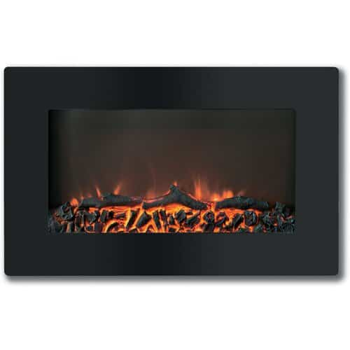 "Cambridge Callisto 30"" Wall-Mount Electronic Fireplace with Flat Panel and Crystal Rocks 1"
