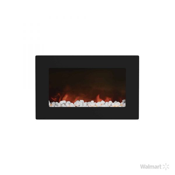 "Cambridge Callisto 30"" Wall-Mount Electronic Fireplace with Flat Panel and Crystal Rocks 3"