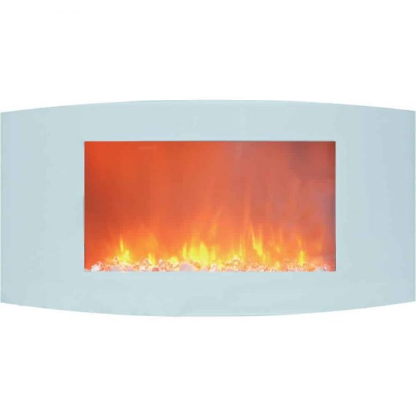 Cambridge Callisto Curved Panel Wall Mount Electric Fireplace Heater 1