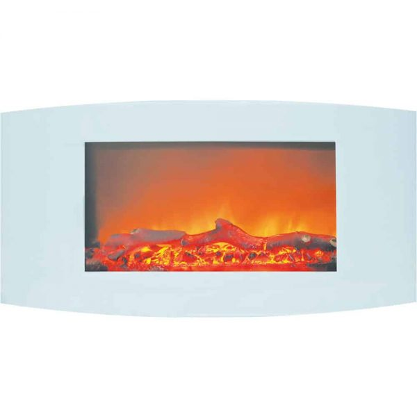 Cambridge Callisto Wall-Mount Curved Electric Fireplace 1
