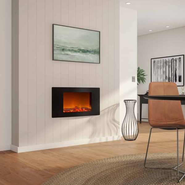 Cambridge Callisto Wall-Mount Curved Electric Fireplace 2