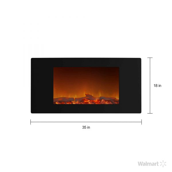 Cambridge Callisto Wall-Mount Curved Electric Fireplace 4