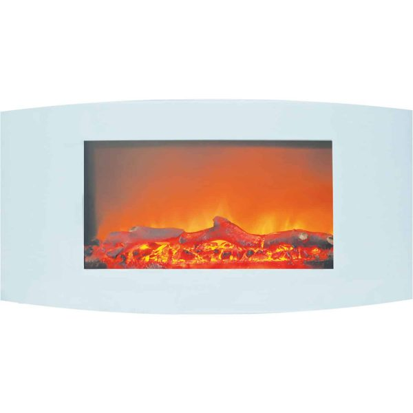 Cambridge Callisto Wall-Mount Curved Electric Fireplace