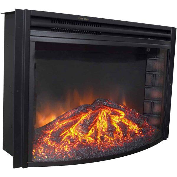 Cambridge Freestanding 5116 BTU Curved Electric Fireplace Insert 1