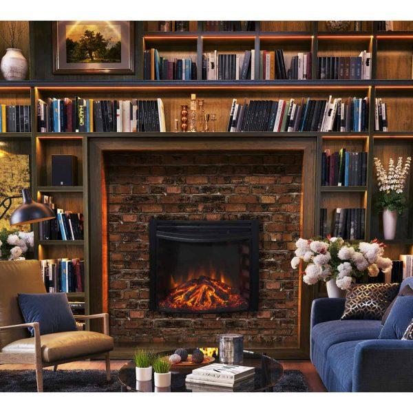 Cambridge Freestanding 5116 BTU Curved Electric Fireplace Insert 2