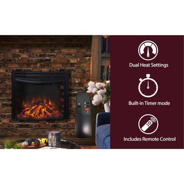 Cambridge Freestanding 5116 BTU Curved Electric Fireplace Insert 3