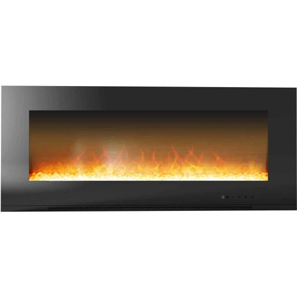 "Cambridge Metropolitan Wall Mount Electric Fireplace Heater, 56"" 1"